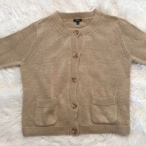 Tan Knitted Talbots Cardigan